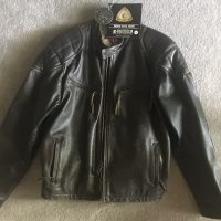 AMA 75th Anniversary Vintage Racer Jacket,  made with heavy 1.5mm leather and extra padding